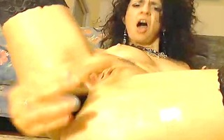 fierce anal toy fucking mother i pounds out her