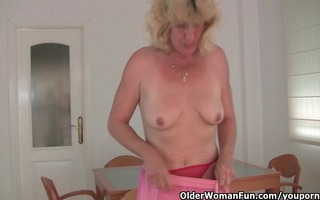 granny acquires her juicy vagina fingered by the