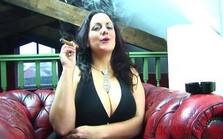 big boob cigar smoking fetish with mellie d