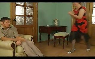 slutty mature blondie seducing sinless stud