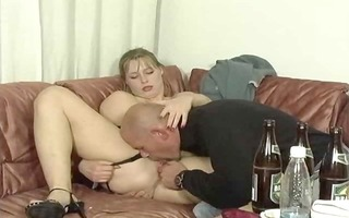 3 german gals drinking and fuckin