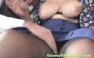real granny drilled by younger lad