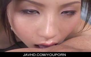 naughty japanese hottie ren kikukawa eats arse