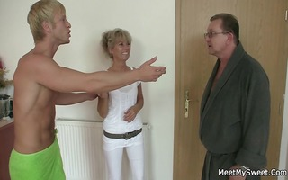 lewd mamma and daddy copulates their sons gf