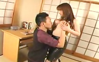 breasty red head japanese angel seduces student