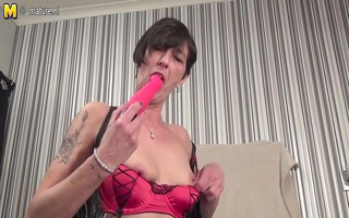 non-professional granny goes eager on her toys
