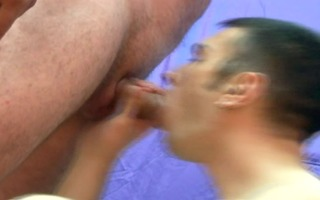 gaping rectal hole receives a creampie