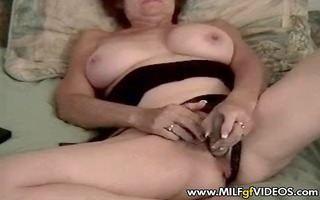 granny milg playing with her wrinkled old slit