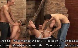 four lads shackled and drilled
