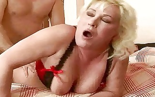 obese grandma acquires her pussy rammed