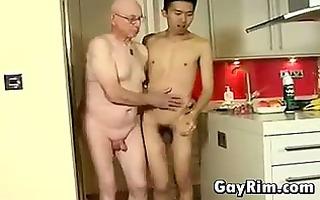 oriental lad fucking older man