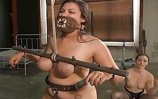 darling gets her smooth butt whipped brutally