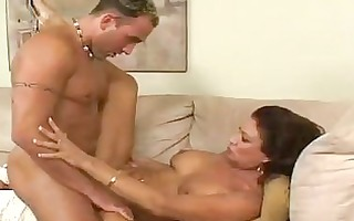 dark brown milf with large natural boobs acquires