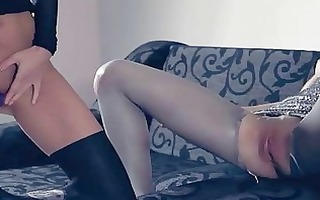 hot lesbs in pantyhose afresh in act