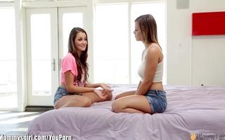 mommysgirl lisa ann shows youthful lesbos licking