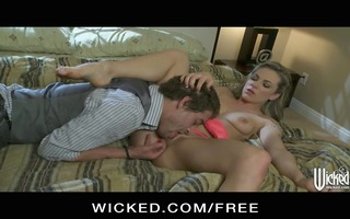 curvy blond wife baliey blue seduces her guy with