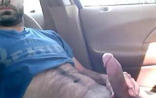 dad caught jerking in his car in the park