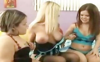 lesbo midget three-some