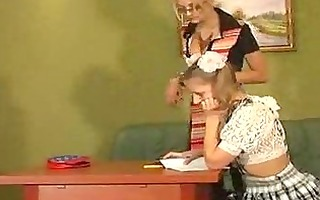 lewd lesbo mamas educate teens chicks how to take