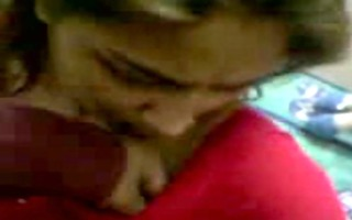 desi angel in red saree undress and bj