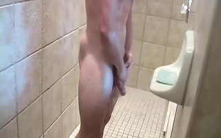 ve discover christian in the shower lathering up