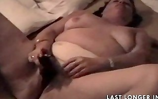 bbw granny rubbing it is nicely