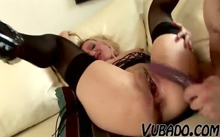 old wife being drilled by her younger hubby !!