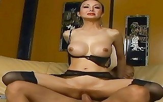 slim lengthy haired oriental fucking in dark