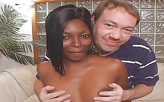 ebon doxy wife disciplined to drink jizz!