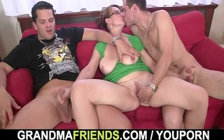 breasty mamma enjoys engulfing and riding knobs