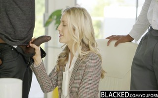 blacked ideal blond karla kush with 2 monster