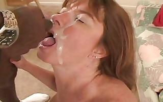 breasty redhead mother i receives her minge