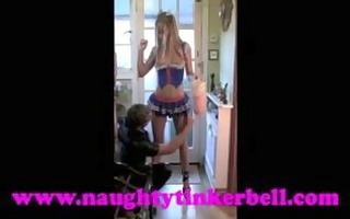 nasty tinkerbell pussy, clit, nipp pumping