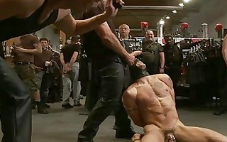 muscled homo hunk acquires fastened up and