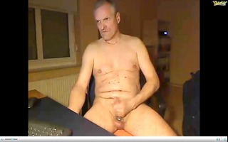 dad stroking groaning with hawt cum
