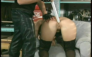 squirting from her puss and a-hole