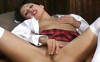 oriental cutie ines masturbating