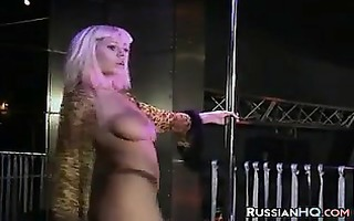 russian stripper with a great body