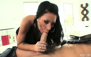 his hard pecker unfathomable in her throat
