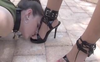absolute foot humiliation for lesbian bondman