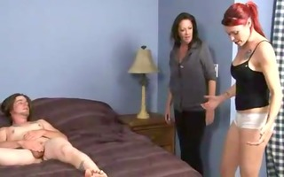 mother makes daughter engulf son
