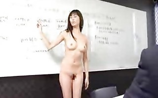 female japanese employees go stripped at work