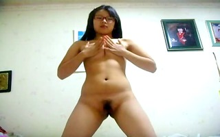non-professional oriental in glasses unshaved