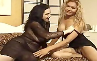 vintage shemale gives a thick beauty threesome