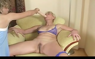 blond mature testing sex tool and real rod by troc