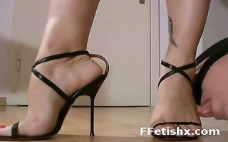 avid bitch fantasying perverted foot fetish