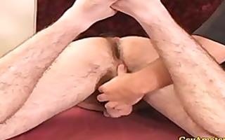 str brawny dilettante receives a-hole fingered