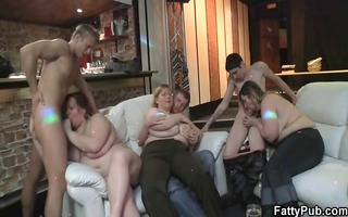 sexy bulky playgirl is pounded on the sofa