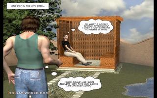 the hooker walk: 4d homo toon animated comics