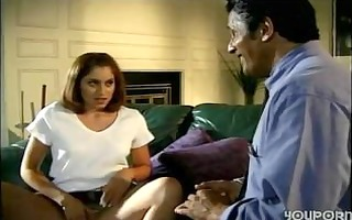 daughter enticed old daddy when mommy went